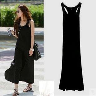 *衣比衣*【Y-144】*工字型修身優質感高彈力棉長洋裝 *黑色(現貨+預購)