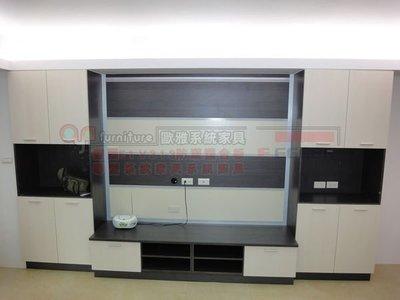 歐雅系統家具 台北 系統家具 系統電視櫃 ,可懸掛電視壁板 總價:63748元 特價:44600元