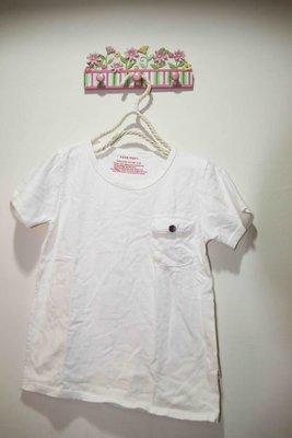 韓版白色口袋棉T