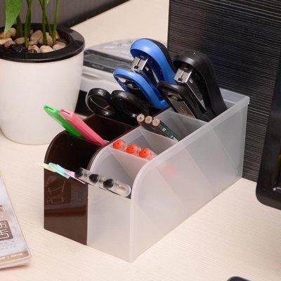 ☜男神閣☞筆筒日本進口辦公室創意筆筒筆座筆插多格桌面收納盒文具整理盒收納筒