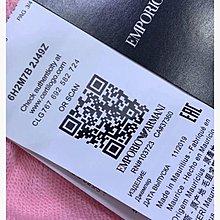 Arm*ni 粉色 黑色 立體logo刺繡毛圈上衣 898元