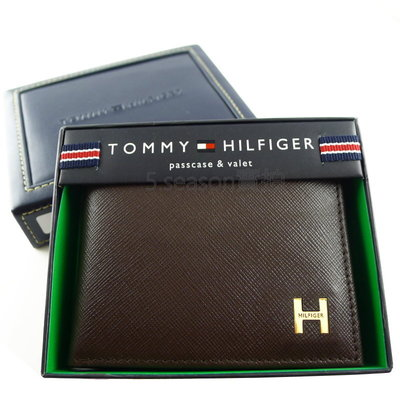 【TOMMY專櫃正品】美國 TOMMY HILIFGER 專櫃購入 防刮皮  H款 照片可拆  短夾禮盒