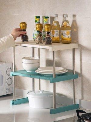 新款家居居家家可疊加廚房用品置物架調味料收納架塑料調料架碗碟架儲物架