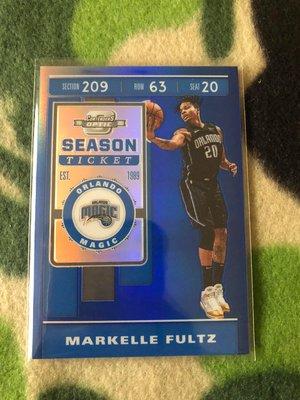 2019-20 Contenders Optic Markelle Fultz Ticket Blue /99