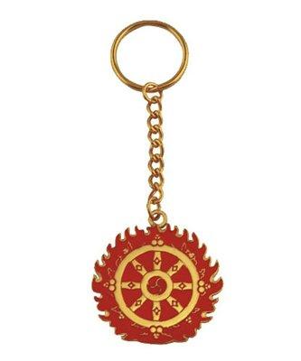 【弘慧堂】 宗教用品佛堂擺件 風水飾品 小匙扣小鑰匙圈魔術火輪吊牌