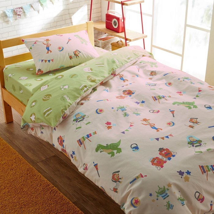 迪士尼Diseny《預購》綿混紡單人雙面印刷三件式床包組~維尼 米奇 玩具總動員 米奇朋友們~日本正品~共4款~心心小舖