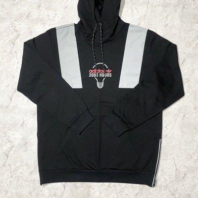 FOCA ADIDAS Original 三葉草 FT5852 男性 黑色 REFLECT 愛迪達 長袖帽T