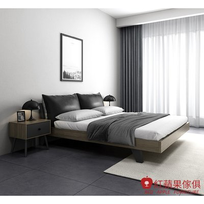 [紅蘋果傢俱]愛奇居系列 DS 5尺雙面軟包床(另售6尺床)  簡約床 現代床 北歐床 雙人床