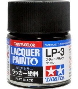 【TAMIYA LP3】硝基漆 消光黑色 LP-3 82103