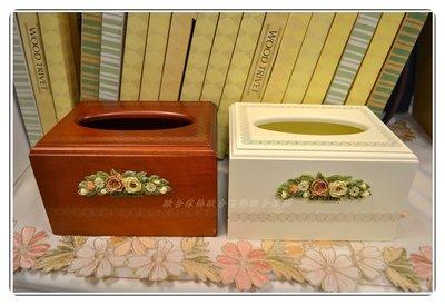 面紙盒(小) 白色/木色環保小包 木製...