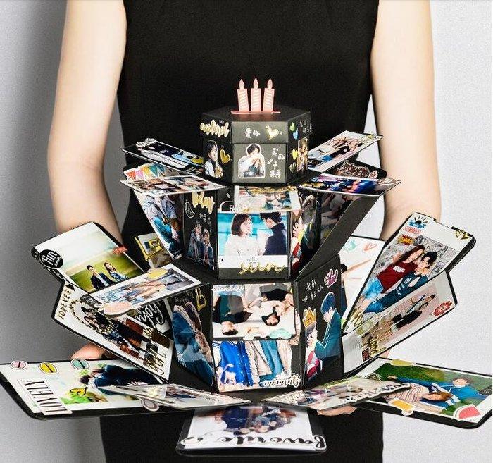 爆炸盒子diy手工相冊創意情侶紀念照片定制驚喜網紅生日禮物抖音