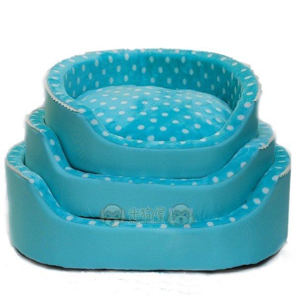 【米狗屋】baby絨毛點點牛津布碗型床(小)˙狗窩/睡床/睡墊˙粉/紅/藍/咖