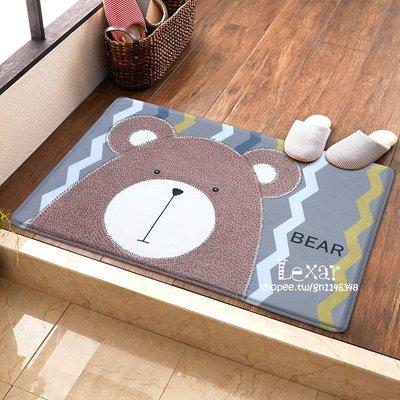 北歐卡通可愛地墊韓式兒童房臥室進門口地...