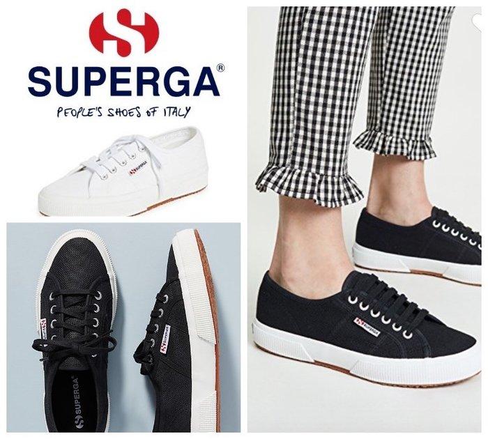【BJ.GO】Superga 2750 COTU CLASSIC WHITE 經典黑運動鞋