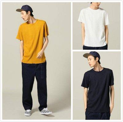 【傑森精品】日本 INHERIT 舒適 柔軟 垂滑 彈力 網眼華夫格 短袖T恤 TEE