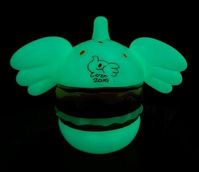 大芝士漢堡象 夜光 GID verUnbox Jumbo Burger Elfie glowing in the dark全新附設計師親筆簽名