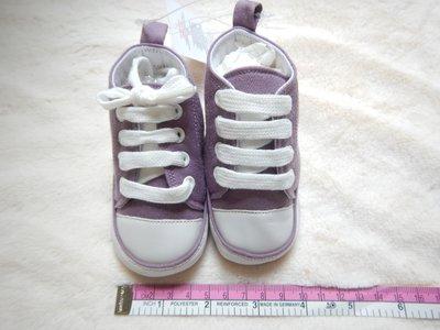 MY 大 BRA 紫色 Size 3/6M~10.5cm~高筒~有鞋帶~軟底~保護~保暖~布鞋仔~嬰兒~BB學行鞋 $19 (免郵費) 一次購買多件,可享優惠價