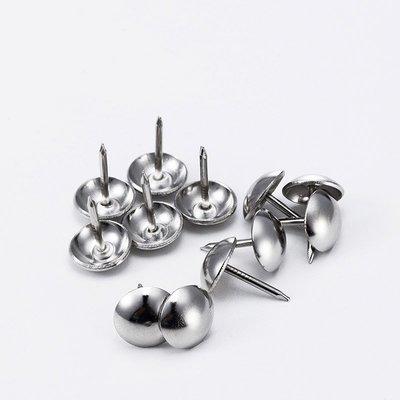 奇奇店-加厚銀色泡釘沙發釘銅釘鼓釘不銹鋼泡釘大頭釘軟硬包圓頭裝飾炮釘(規格不同 價格不同)