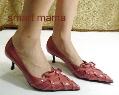 ☆甜甜妞妞小舖☆ DN  專櫃女鞋 全新低跟尖頭包頭鞋----36.5號