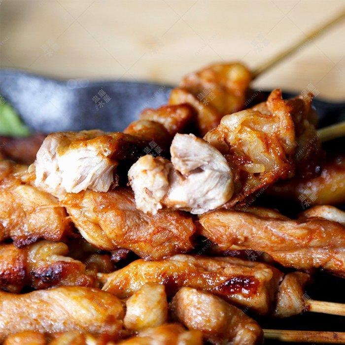 ㊣盅龐水產◇迷迭香雞腿串◇雞肉串 10串/盒 每串18.5元 烤肉 燒烤  夯肉