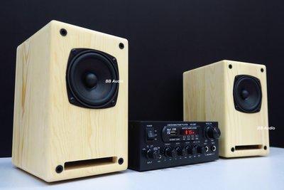 全新 3吋松木全音+二聲道迴音擴大機+發燒音源線+1米手工喇叭線(優惠中)