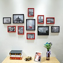 【特惠免運】11框簡約歐式創意黑白組合照片墻客廳臥室相 【創意家居】