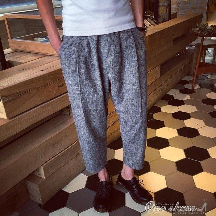 【全天賣場】 棉麻長褲 原創復古中國風男士亞麻長褲寬鬆小QTMQ34033