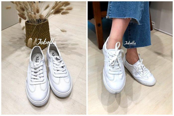 ✽JoBella 韓國空運 韓國代購 韓貨✽ 真皮綁帶小白鞋 現貨+預購