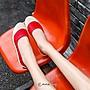 🌸EmmaShop艾購物-早秋新品韓國同步上新糖果色真皮淺口貝殼鞋/休閒鞋/平底鞋