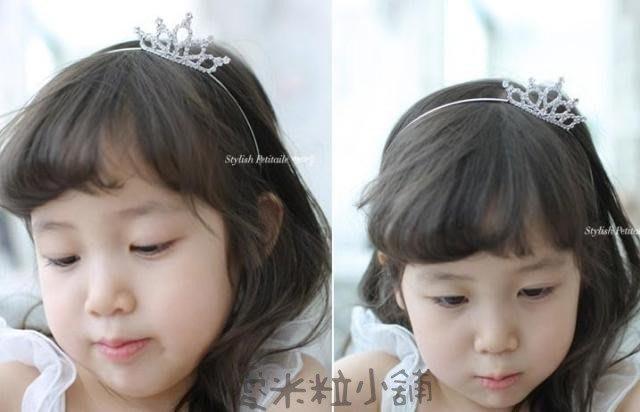 公主皇冠髮圈 髮箍 結婚禮服頭紗婚紗花童服表演 ☆愛米粒☆C10