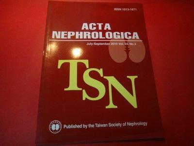 【愛悅二手書坊 23-36】ACTA NEPHROLOGICA TST    Vol.24, NO.3