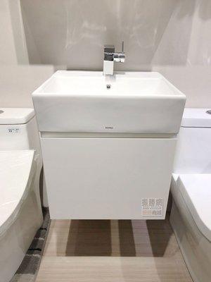 《振勝網》TOTO L710CGUR 檯面盆專用浴櫃,TO-152 鋼烤浴櫃組(不含面盆及龍頭) / 時尚斜把手設計