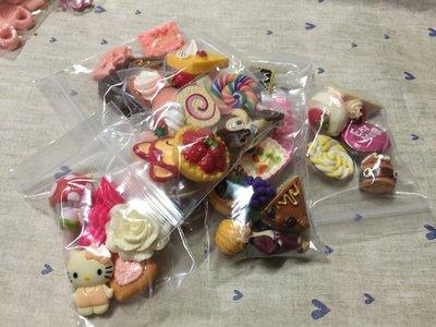 迷你仿真甜點 甜甜圈 蛋糕 餅乾 冰淇淋 棒棒糖 公仔 DIY素材 袖珍食玩 飾品材料 5入大甜點福袋組 (現貨)