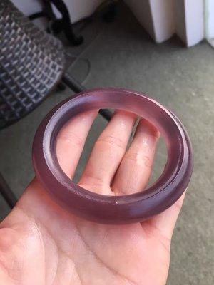Amanda Jewelry 天然稀有濃紫 紫玉髓 巴西 手鐲 圓骨 圓扁鐲 訂製