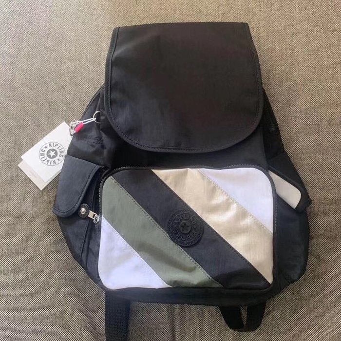 Kipling 猴子包 K12147 KI6772  拼接質感黑 多用輕量雙肩後背包 中型 旅行 防水 限時優惠
