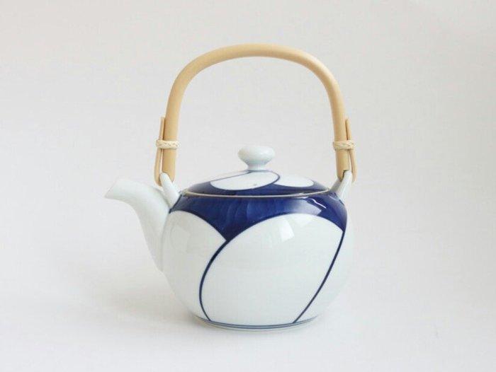 天使熊雜貨小舖~日本白山陶器 白梅土瓶  全新現貨