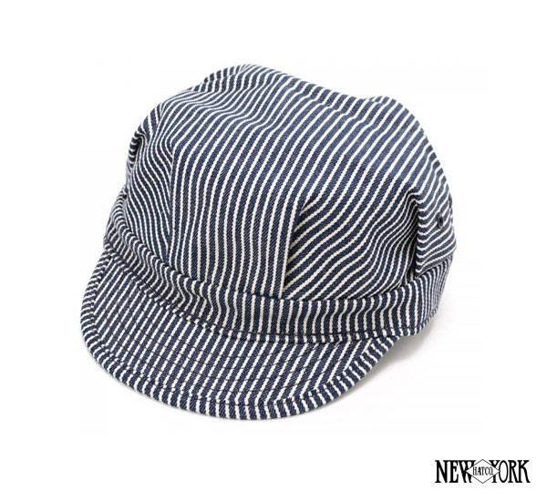 GOODFORIT / New York Hats HICKORY ENGINEER核桃條紋帆布棉材工程帽