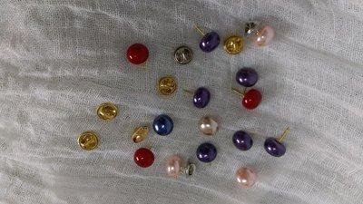 (老銀屋)時尚設計款流行實用小巧別緻珍珠釦別針