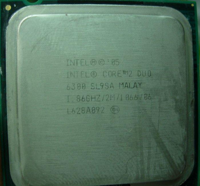 E6300 Core 2 DUO 65nm正式版1d雙核心775 intel cpu lga775 1.86g 6300