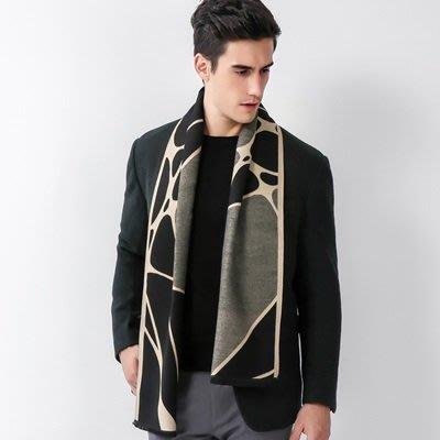 圍 巾 羊毛圍脖-雙面不規則幾何圖形男女披肩4色73ph33[獨家進口][米蘭精品]