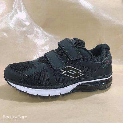 北台灣大聯盟 LOTTO樂得-義大利第一品牌 男款DELL 6大機能氣墊健走鞋 0860-黑 超低直購價690元