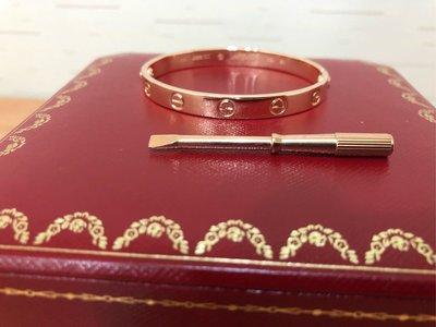 保證真品 Cartier love螺絲玫瑰金手環 手鐲