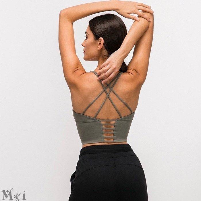 運動內衣 細肩帶交叉美背帶胸墊健身背心 運動文胸 瑜珈內衣 運動背心 胸衣 健身背心 運動胸罩 瑜伽內衣 健身文胸