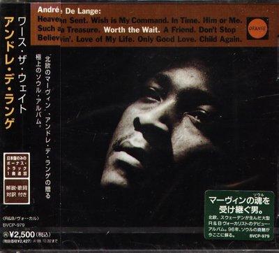 K - Andre De Lange - Worth the Wait - 日版 CD+1BONUS - NEW