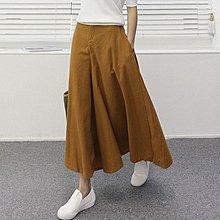 BiBi   韓國代購   正韓【 BH3366 】  好穿款口袋後鬆緊寬管褲