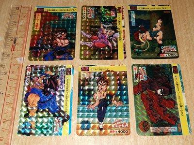 85% Capcom Street Fighter II S New Challengers Cards 1994 街頭霸王 街霸 閃卡 咭 全套6張 日版