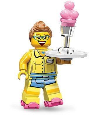 絕版品【LEGO 樂高】玩具 積木/ Minifigures人偶包系列: 11代 71002 單一人偶: 溜冰 女服務生