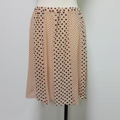 (X193) RIO DE CENT粉橘色絲質點點網紗短裙~牧牧小舖~優質二手衣~