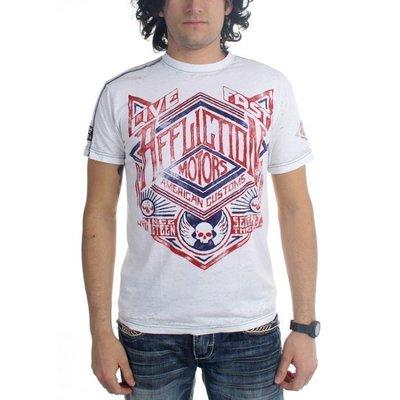 AFFLICTION 美式重機潮牌 A8926 男生 白色短袖T恤(M號) 出清價不退換