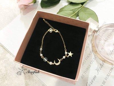 【海星 Starfish】闆娘推薦百搭小清新款 星月夢幻珠珠手環